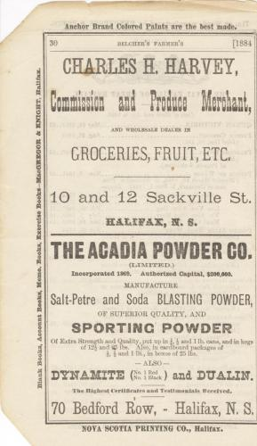 Acadia Powder Cd. Advertisement